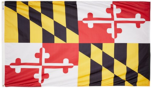 Annin Flagmakers Model 142380 Maryland State Flag Nylon SolarGuard NYL-Glo, 5×8 ft, 100% Made in USA to Official Design Specifications Review