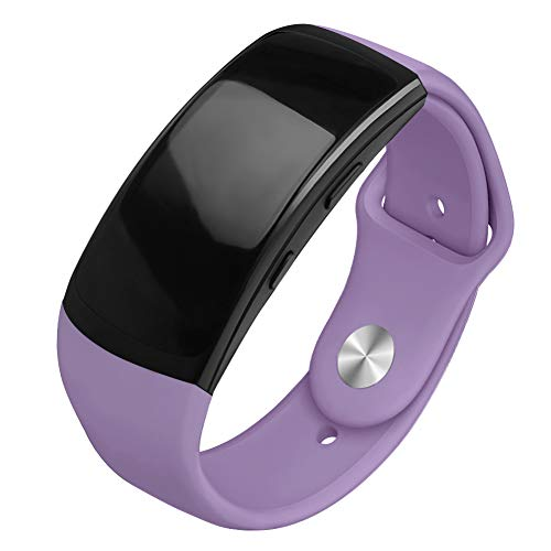 OenFoto Sports Band Compatible Gear Fit2 Pro/ Fit2, Replacement Silicone Accessories Strap Samsung Gear Fit2 Pro SM-R365/ Gear Fit2 SM-R360 Smartwatch- Light Purple