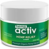 HEMPACTIV Hemp Pain Relief Cream 2000mg | Hemp + MSM + Arnica + Menthol | Relieve Muscle, Joint & Arthritis Pain | Effective Hemp Pain Cream | 2oz