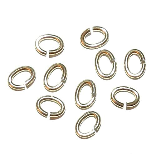 - 12kt Gold-Filled 7mm Oval 16-Gauge Heavy Jumpring Components 10pc #ID-7569