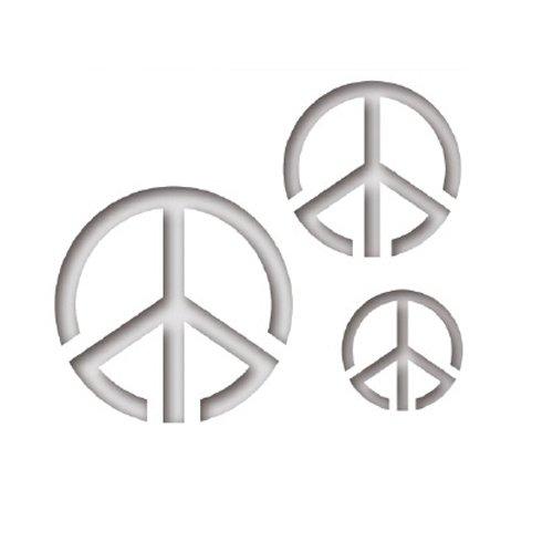 Hair Dye Stencil, Peace Sign, 10-Pack ()