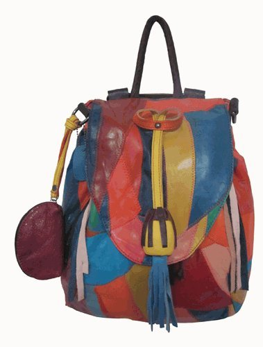 Lambskin Patched Leather - Amerileather Betsy Backpack