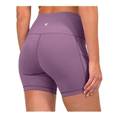 90 Degree By Reflex - High Waist Power Flex Yoga Shorts with Side Pocket: Clothing