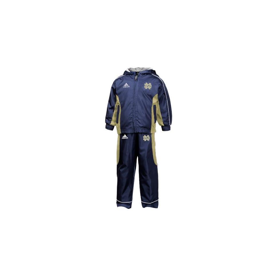 adidas Notre Dame Fighting Irish Toddler Navy Blue Full Zip Track Jacket & Pant Set (3T)