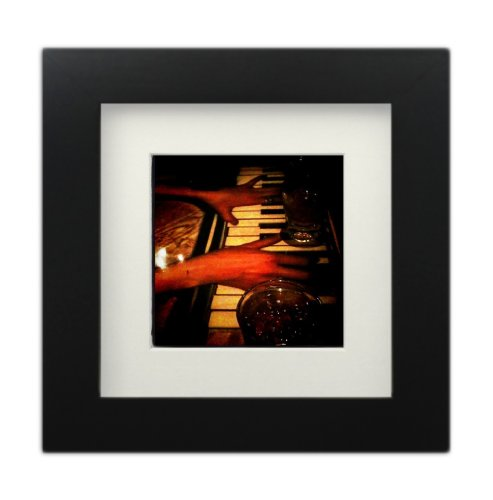 Tiny Mighty Frames - Wood Square Instagram Photo Frame, 6x6 (5.5x5.5 Window), 4x4 Mat (3.5x3.5 Window), Hanging (1, BLACK) - Lab Photo Frame
