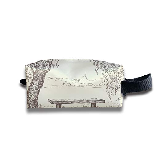 - Small Toiletry Bag Sitting Under Tree,Pencil Case,Travel Essentials Bag,Dopp Kit Bag For Men And Women With Handle
