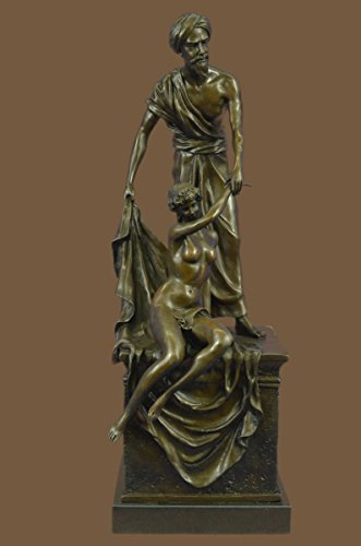 …Handmade…European Bronze Sculpture Very Large The Auctioneer By Carl Kauba Marble Base(1X-FT-018)Statues Figurine Figurines Nude Office  Home Dé…