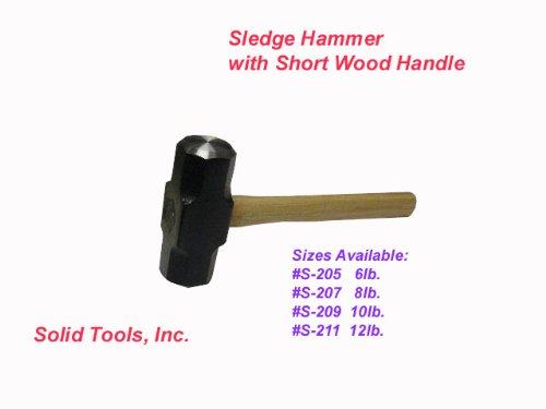10 Lb Sledge Hammer With 16 Short Wood Handle Sledgehammers