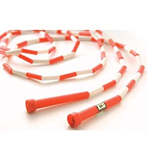 Amazon.com : 10' Red / White Segmented Skip Rope (Set of 20) : Jump