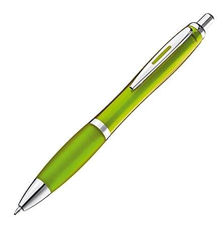 Werbeartikel // Haushalt 02 burgund transparenter Schaft 1682 10 x Kugelschreiber viele Farben w/ählbar