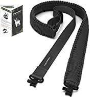 Long Outdeer Rifle Sling, 2-Point Paracord Gun Sling with Swivel Clips and Quick Adjustable Length Strap for O