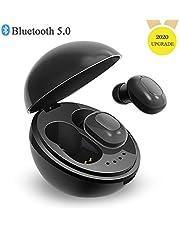 Noise Cancelling Headphones Wireless Headphones Bluetooth 5.0 True Wireless Earphones Waterproof In-Ear Headphones Stereo Sound Sports Headsets with Charging Case,D