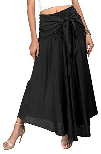 Joop Joop 2 in 1 Maxi Skirt and Dress Bohemian Loose Flowing Boho Summer Travel Beach Festival Lounge Casual Skirt]()