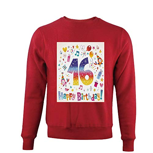 Cotton print,Teen Celebration Motif Hearts Balloon Bird Box,Sweatshirt mens (Balloon Motif)