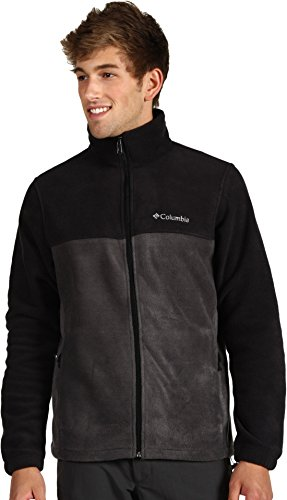 Columbia Men's Steens Mountain Full Zip 2.0 Soft Fleece Jacket, Black/Grill, Large