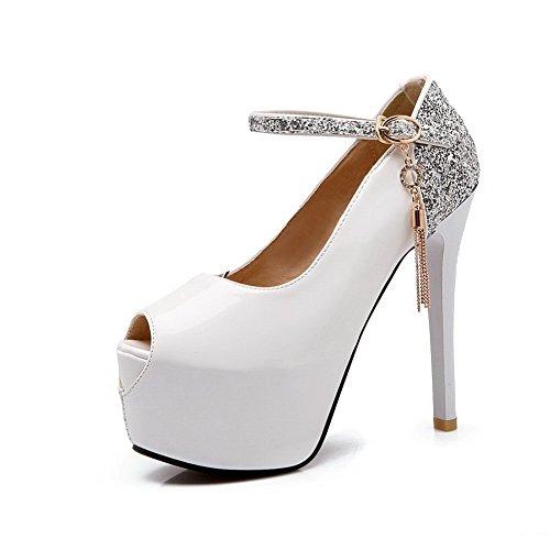 Blanc Sandales Pour 5 40 MJS00737 EU Inconnu 1To9 Femme qavE5nx7Iw