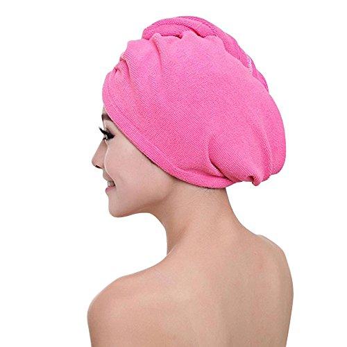 Theshy Microfiber Bath Towel Hair Dry Hat Cap Quick Drying Lady Bath Tool HP
