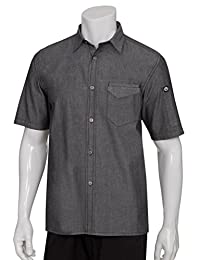 Chef Works Men's Detroit Short Sleeve Denim Shirt (SKS002)