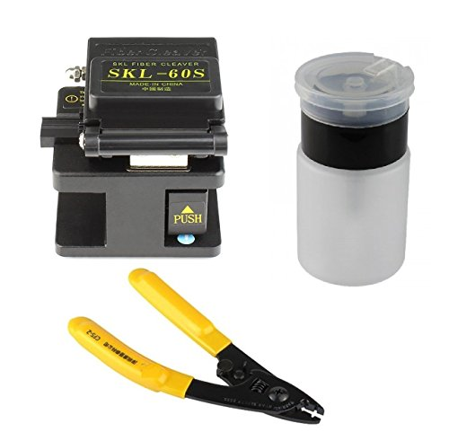 wpt FTTH Optical Fiber Termination Tool Kits with Cleaver, Wire Stripper and IP Bottel