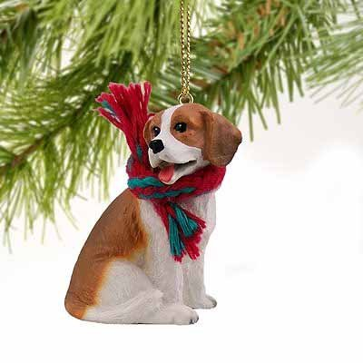 1 X Beagle Miniature Dog Ornament - Tiny One Dog Ornament