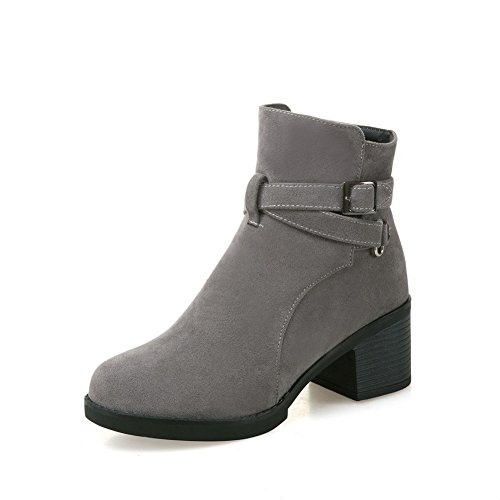 Boots Zipper ABL10610 Ankle Womens Ankle Gray Strap Polypropylene BalaMasa High XFqS0n1
