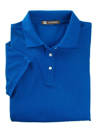 Harriton womens 5.6 oz. Easy Blend Polo(M265W)-TRUE ROYAL-3XL