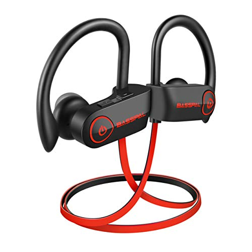 Bluetooth Headphones, BassPal TonePro U14 Wireless Sport Earphones Waterproof IPX7, w/Mic Richer Bass HD Stereo Sweatproof In Ear Earbuds for Gym Running Workout 9 Hrs Battery Noise Cancelling Headset