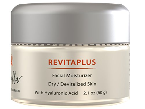 RevitaPlus Facial Moisturizer with Hyaluronic Acid – Anti Aging Cream for Dry, Devitalized Skin. Nourishes, Softens, Moisturizes, Hydrates Fine Lines Deep Wrinkles, Promoting a Silky Skin. 60g 2.1