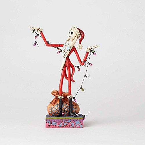 Jim Shore Plush - Jim Shore Disney Traditions by Enesco Santa Jack with Christmas Lights Figurine