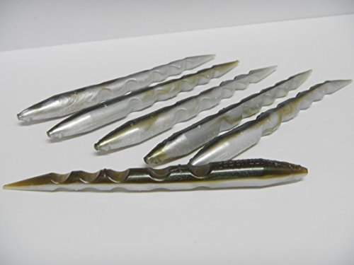 Got Stryper Rubber Stick Eel Bait 5 - Inches (6 Pack - ARKANSAS SHINER)