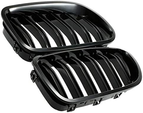 CUHAWUDBA Calandre Grill Gloss Noir Kidney Sport pour F01 F02 7-Series 730D 740D 750D