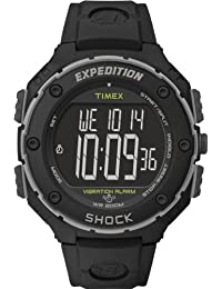 Timex Men's T49950GP Expedition Shock-Resistant XL Vibrating Alarm Black Resin Watch