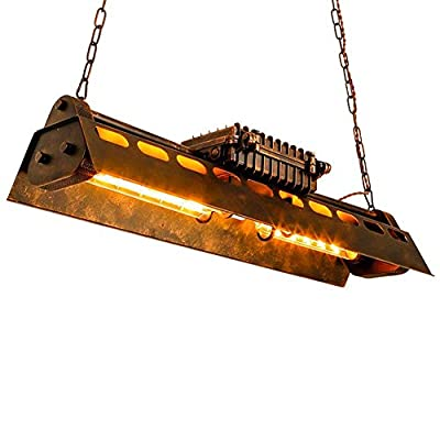 Industrial Pendant Light 4 Light Metal Rustic Chandelier Adjustable Vintage Hanging Ceiling Lighting Fixtures for Home Kitchen Restaurant