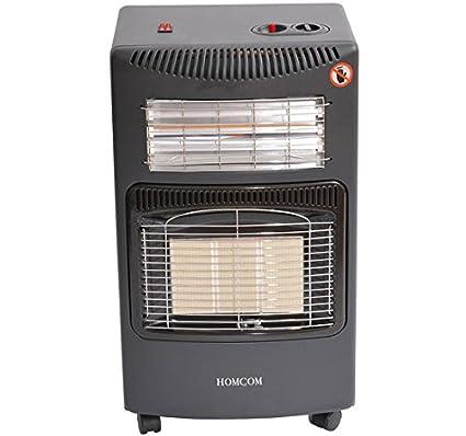 Calentador de Gas Butano y/o Electrico con Emisores Calor Radiador de Ceramica y Emisores