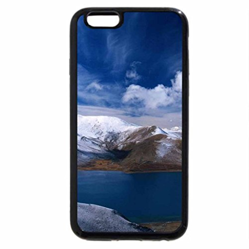 iPhone 6S Case, iPhone 6 Case (Black & White) - magnificent winter sunset on a lake in oslo norway