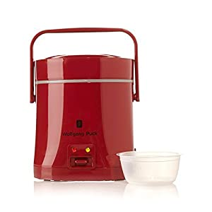 Wolfgang Puck Signature Perfect Portable Rice Cooker, one cup of rice with one cup of water you will get a perfect rice.