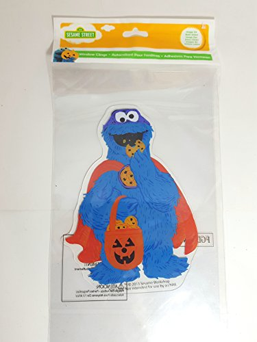 Halloween Window Gel Jelz Clings (Cookie Monster) (Monster Halloween Cookies)
