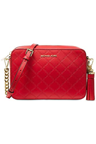 Michael Kors Chain Embossed Leather Camera Bag BRIGHT ()