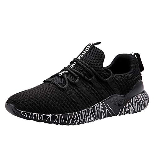 OrchidAmor Mens Women's Mesh Beathing Basketball Running Sport Athletic Shoes Sneakers 2019 Summer Black