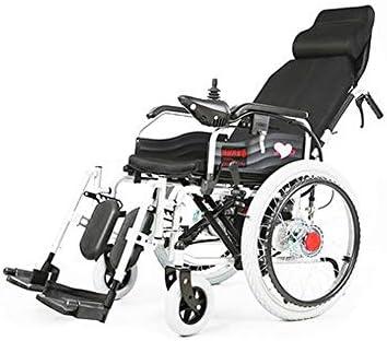 MEI XU Silla de Ruedas eléctrica, sillas de Ruedas Plegables discapacitadas para Ancianos, Coche de enfermería Inteligente para Cuatro Ruedas portátil @