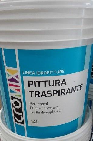 Colore Traspirante Per Interni.Pittura Murale Traspirante Per Interni Cromix 14 Litri Bianca