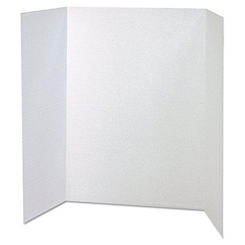 Side Natural Bulletin Cork Board - Pacon 37634 Spotlight Corrugated Presentation Display Boards, 48 x 36, White, 4/Carton