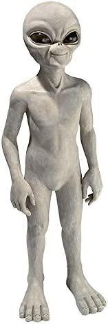 Design Toscano LY612299 The Out-of-this-World Alien Extra Terrestrial Statue: Large,Gray Stone Finish