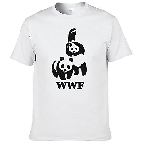 WWF Wrestling Panda Comedy Short Sleeve Cool Camiseta T Shirt Men T Shirt Summer Fashion Funny