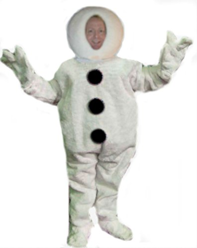 Mascots USA by CJs Huggables Custom Pro Low Cost Funky Snowman Mascot Costume (Mascot Snowman Costume)
