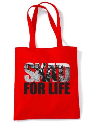 Ska Red Ska'd For Life Tote For Bag Ska Ska'd Tote Life Shoulder wqUwf04S
