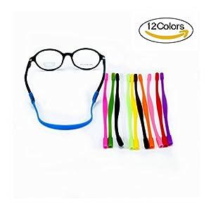 12 Colors Anti-slip Glasses Strap Sports Glasses Strap Holder for Kids ,Glasses chain 12 Pieces