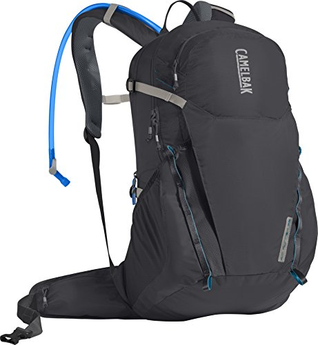 CamelBak 1105001000 Rim Runner 22 Crux Reservoir Hydration Pack, Charcoal/Grecian Blue, 2.5 L/85 oz