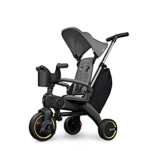 Doona Liki Trike S3 – Premium Foldable Push Trike and Kid's Tricycle for Ages 10 Months to 3 Years, Grey Hound