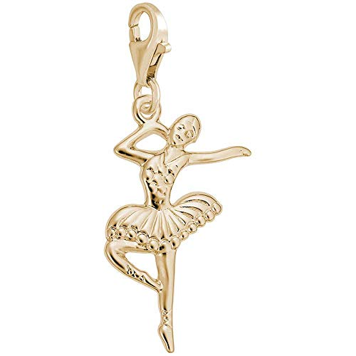 Rembrandt Charms Ballet Dancer Charm with Lobster Clasp, 14k Yellow Gold ()
